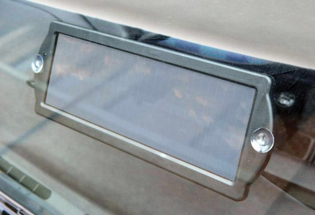 Solar Panel on Car Dashboard